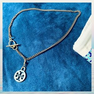"""18"""" FRONT TOGGLE NECKLACE W/ AUTH TORY BURCH CHARM"""